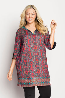 Plus Size - Sara printed Tunic