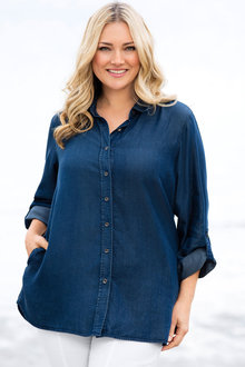 Sara Tencel Denim Shirt