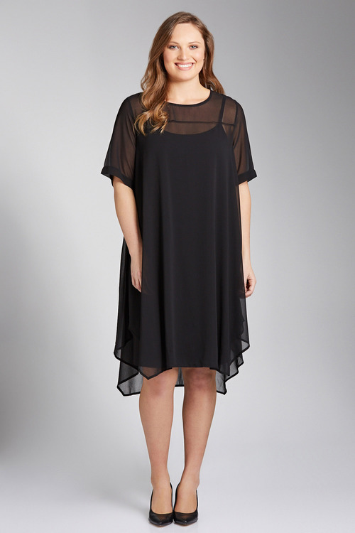 Plus Size - Sara Drape Dress
