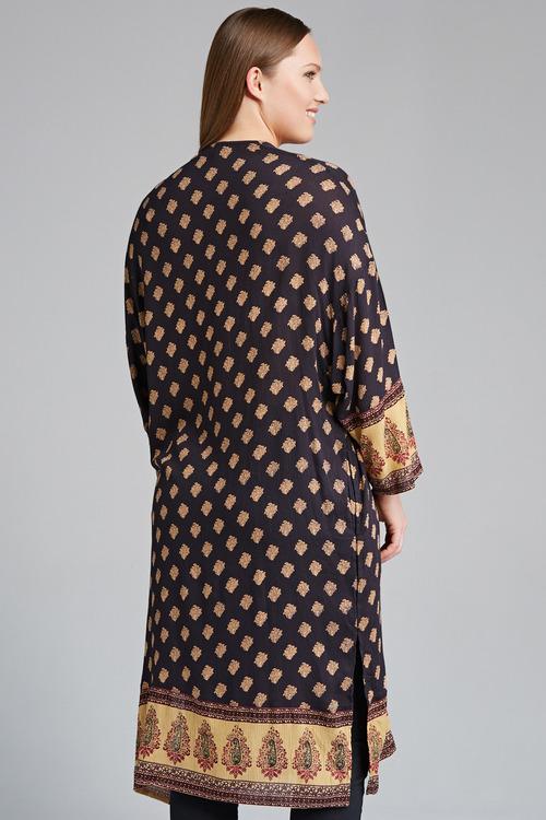 Plus Size - Sara Crinkle Duster Jacket