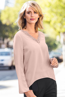 Capture Lace V Neck Top