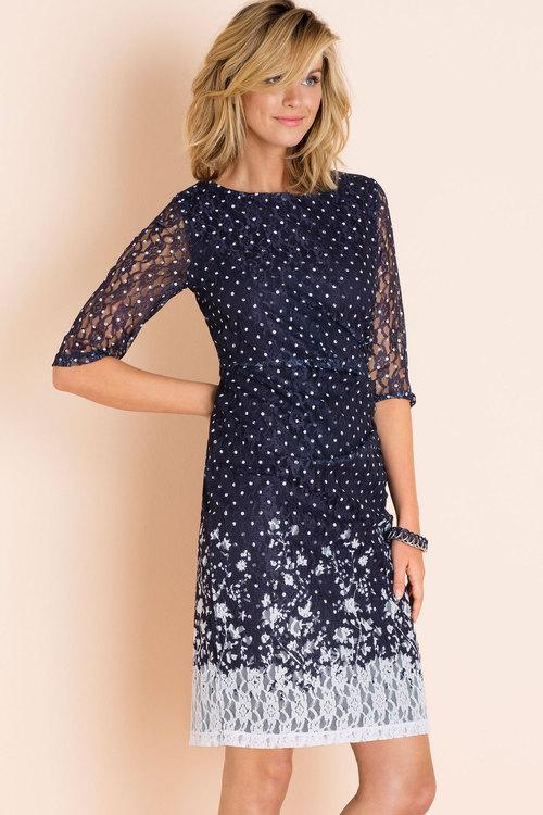 Grace Hill Printed Lace Dress