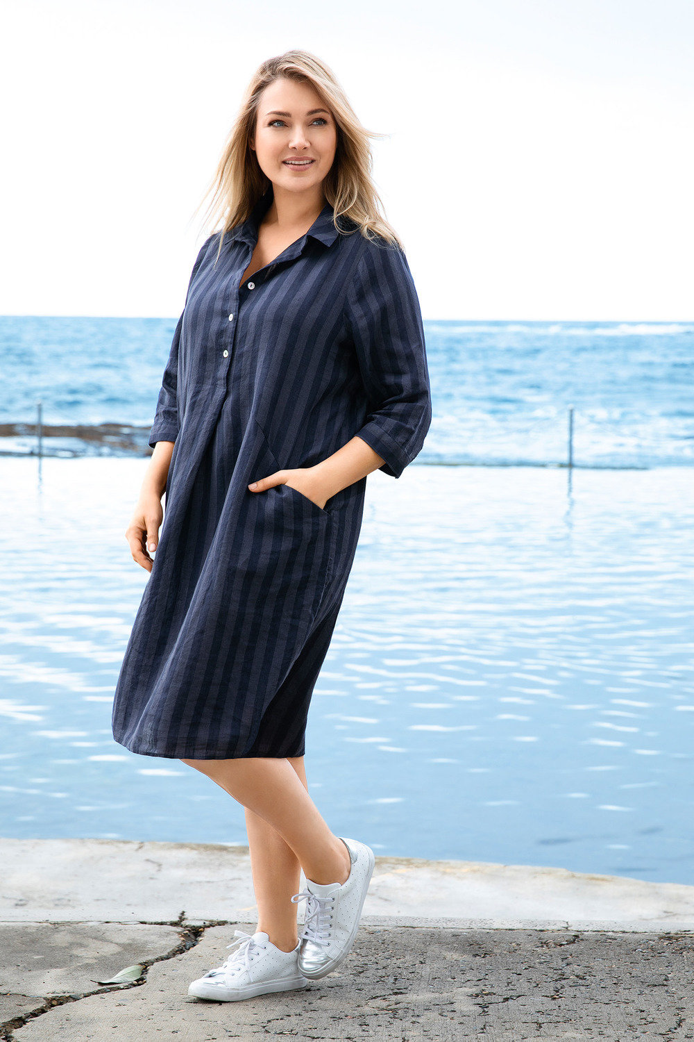 Sara Linen Shirt Dress Online Shop Ezibuy