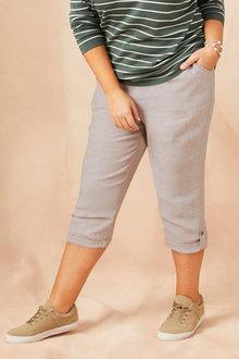 Plus Size - Sara Linen Crop - 158561