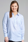 Plus Size - Sara Stripe Linen Shirt
