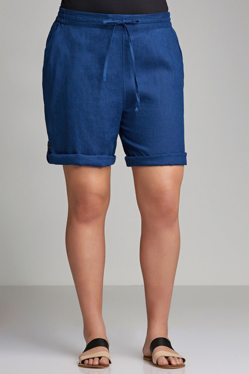 Plus Size - Sara Linen Short