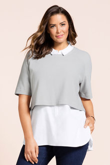Plus Size - Sara Two In One Tunic