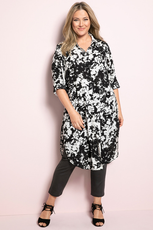 Plus Size - Sara Longline Shirt