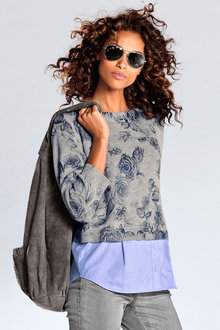 Heine Two-in-One Sweater Shirt