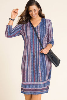 Plus Size - Sara V Neck Dress