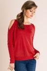 Emerge Cold Shoulder Knit