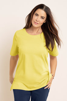 Plus Size - Sara Round Neck Tee