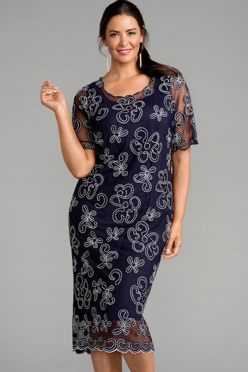 Plus Size - Sara Embroidered Dress