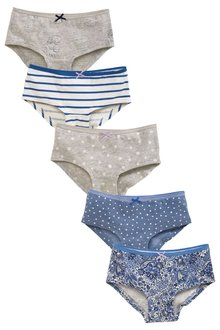 Next Blue Paisley Print Hipster Briefs 5 Pack (3-16yrs)