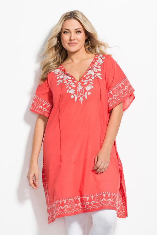 Plus Size - Sara Embroidered Kaftan