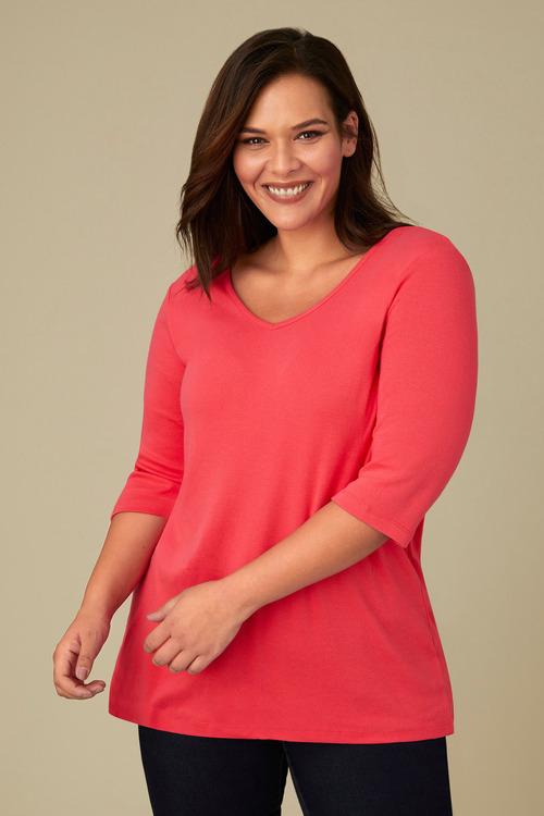 Plus Size - Sara V Neck Tee
