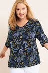 Plus Size - Sara V Neck Tee