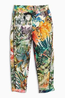 Next Green Floral Traveller Pants (3-16yrs)