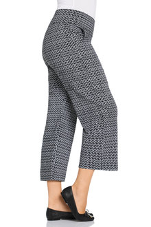 Plus Size - Sara Bengaline 3/4 Pull On Pant