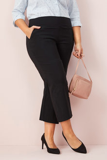 Plus Size - Sara Bengaline 3/4 Pull On Pants - 159868