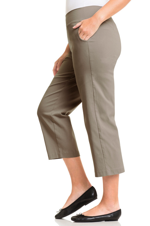 Plus Size - Sara Bengaline 3/4 Pull On Pants