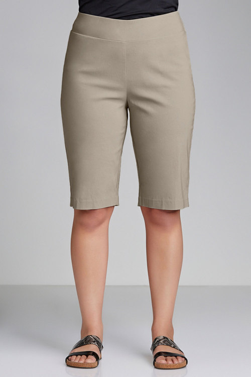 Plus Size - Sara Bengaline Pull On Short