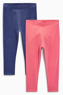Next Coral/Navy Leggings Two Pack (3mths-6yrs)