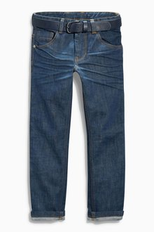 Next Rinse Regular Jeans With Belt (3-16yrs)