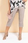 Plus Size - Sara Bengaline Pull On Cuff Pleat Detail Pant