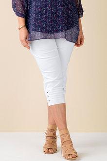Sara Bengaline Pull On Cuff Pleat Detail Pant - 159971