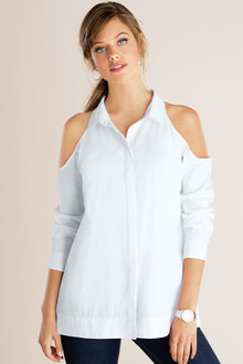 Emerge Cold Shoulder Shirt