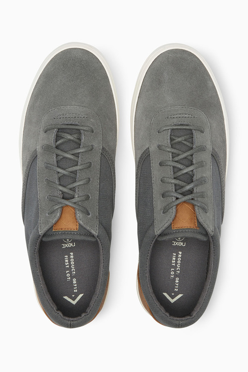 Next Canvas And Suede Sport Lace-Up
