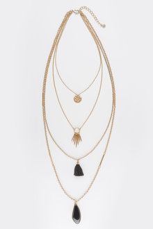 Next Gold Tone Multi Layer Necklace
