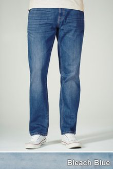 Next Bleach Wash Jeans With Stretch