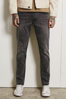 Next Light Grey Distressed Jeans