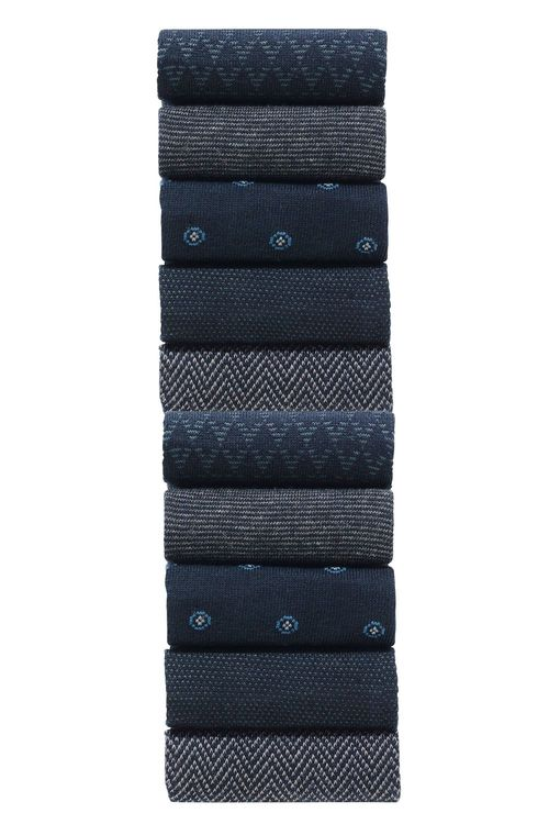 Next Navy Formal Mix Socks Ten Pack