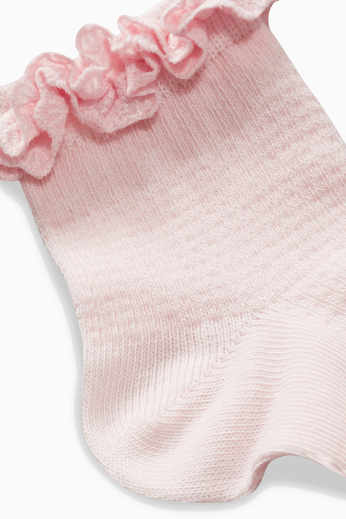 Next Textured Ruffle Socks Two Pack (Younger Girls)