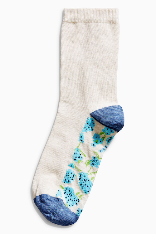 Next Floral Footbed Ankle Socks Five Pack