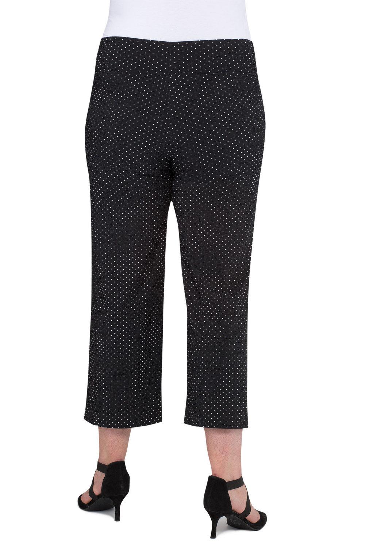 fa802f58083 Plus Size - Sara Printed Bengaline 3 4 Pull On Pant