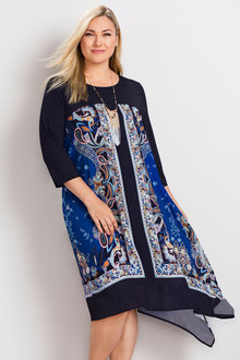 Plus Size - Sara Asymmetric Dress