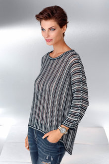 Capture European Pointelle Knit Pullover