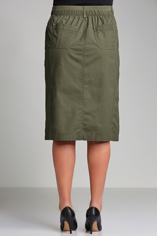 Plus Size - Sara New Cargo Skirt