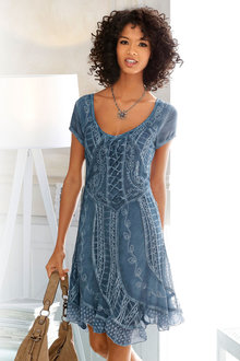 Heine Embroidered Dress