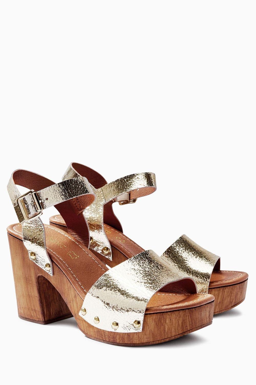 acab3c58b Next Leather Wood Look Sandals Online
