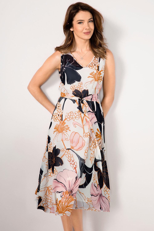 c30fa756b9ffa Grace Hill Floral Fit and Flare Chiffon Online | Shop EziBuy