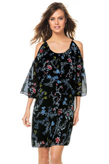 Emerge Floral Cold Shoulder Dress