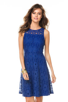Emerge Fit and Flare Lace Dress