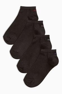 Next Four Pack Modal Mix Trainer Socks