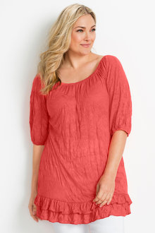 Plus Size - Sara Crinkle Knit Tunic