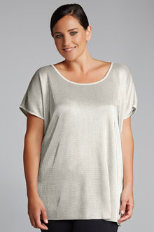 Plus Size - Sara Metallic Top
